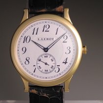 L.Leroy Only Time Center Seconds Watch With Hobnail &...