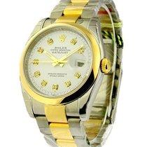 Rolex Unworn 116203 Mens 2-Tone Datejust with Oyster Bracelet...