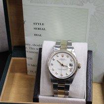 Rolex Date 34MM 14K Yellow Gold & Stainless Steel Diamond...