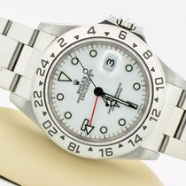 Rolex Explorer II Stainless Steel White Dial 16570