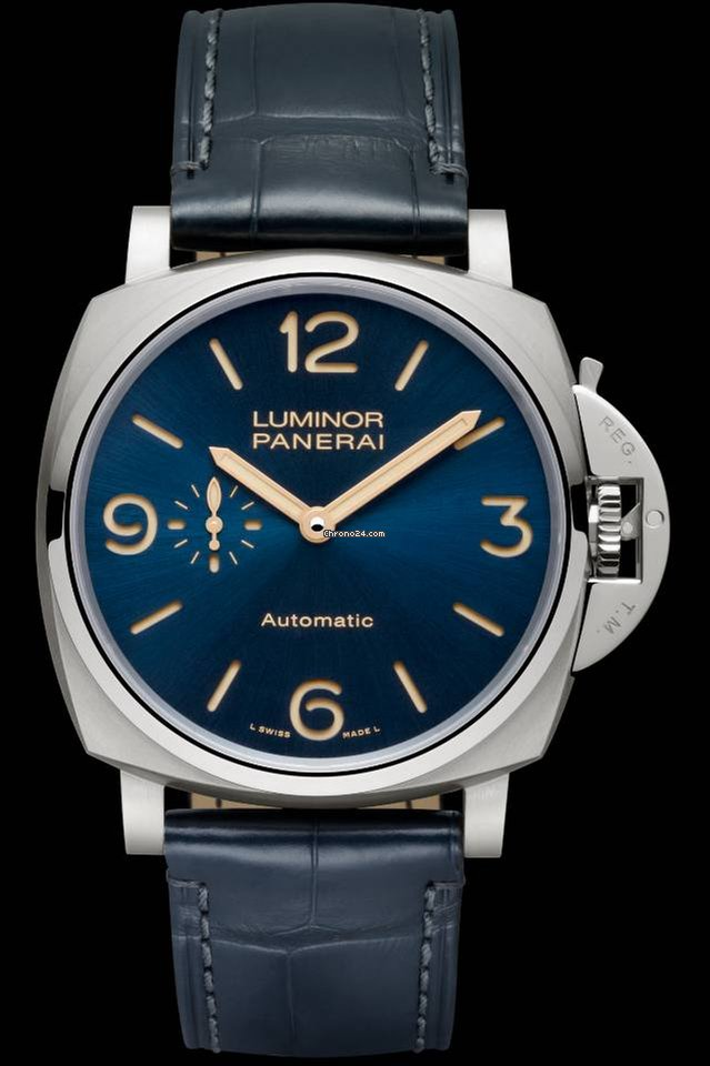 watch of quietly and submersible crown handed vintage style with orientation trio the a aged watches luminor panerai left released titanio lefty hands look sort for