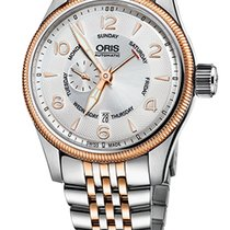 Oris Big Crown Small Second, Pointer Day, Steel Gold Plated