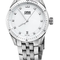 Oris Artix GT Date, Diamonds, Ceramic Top, White, Steel