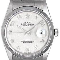 Rolex Datejust Men's Stainless Steel Watch 16200 Cream...
