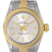 Rolex Ladies Rolex Oyster Perpetual Watch 67193 Silver Dial