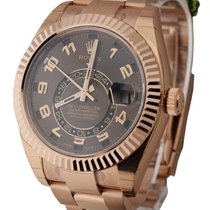 Rolex Used 326935CH Sky Dweller in Rose Gold with Fluted Bezel...