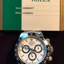 Rolex 116500LN Steel Daytona Ceramic Bezel White Face
