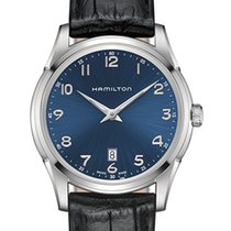 Hamilton Jazzmaster Thinline Quartz Blue Dial 42mm