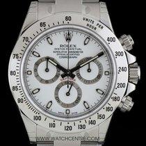 Rolex S/S Unworn White Dial Cosmograph Daytona NOS B&P 116520
