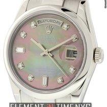 Ρολεξ (Rolex) Day-Date President Platinum Tahitian Diamond...