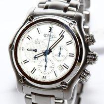 Ebel 1911 BTR Chronograph Chronometer Stahl Uhr. 9137L70 Papiere