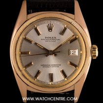 Rolex 18k Rose Gold O/P Semi Bubble Back Vintage Datejust 6105