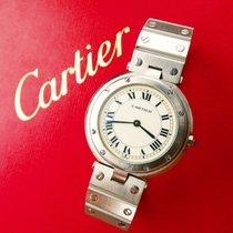 Cartier SANTOS RONDE 33mm Elegante Hochfeine Herren Armbanduhr