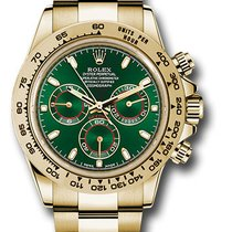 Rolex 116508 Yellow Gold Daytona Green Dial