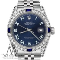 Rolex 26mm Datejust Navy Blue Roman Numeral Dial With Sapphire...