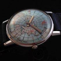 Alvarex Rare Mechanical Geographos Vintage Watch