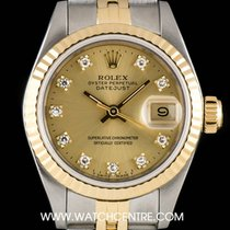 Rolex S/Steel & 18k Y/Gold Champagne Diamond Dial Datejust...