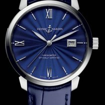 Ulysse Nardin CLASSICO Steel Case translucent blue enamel dial...