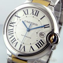 Cartier Ballon Bleu  W69009z3 42 Mm Stainless Steel 18k Yellow...
