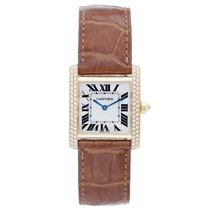 Chanel Cartier Tank Francaise Midsize 18k Yellow Gold Watch...