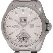 TAG Heuer : Grand Carrera GMT :  WAV5112.BA0901 :  Stainless...