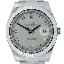 Rolex Datejust II Steel and Whitegold Silver Diamonds(SOLD)
