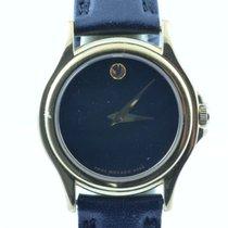 Movado Damen Uhr 34mm Stahl Vergoldet Museum Watch Rar Rar