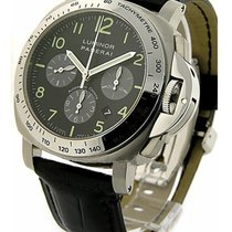 Panerai PAM00162 PAM 162 - 44mm Luminor Chronograph in Steel -...