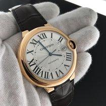 Cartier Ballon Bleu Xl W6900551 18k Rose Gold & Leather...