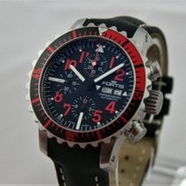 Fortis B-42 Marinemaster Red Day/Date Chronograph Full Set