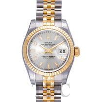 Rolex Lady Oyster Perpetual Silver/18k gold Ø26 mm - 179173