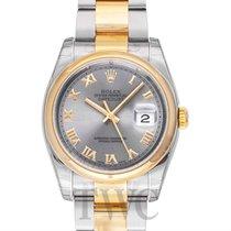 Rolex Datejust Gold/Steel Silver/18k gold Ø36 mm - 116203
