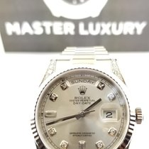 Rolex Day-Date 118388 White MOP Diam Dial Diam Bezel and Lugs YG