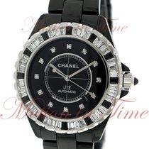 Chanel J12 42mm Automatic, Black Diamond Dial, Baguette Bezel...