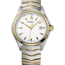 Ebel Wave Gent Steel/Gold Bracelet, White Dial, Date