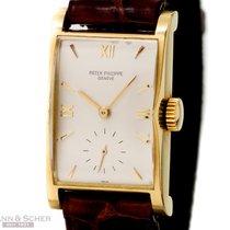 Patek Philippe Vintage Rectangular Ref-1588 18k Yellow Gold...