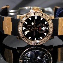 Ulysse Nardin Maxi Marine Diver Rose Gold Baguette Diamond Bezel