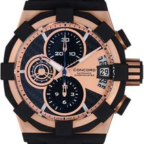 Concord C1 Sport Chronograph 18k Rose Gold Men's Automatic...