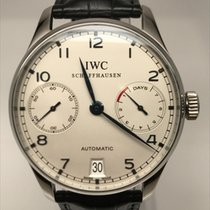 IWC Portugieser 7 day power reserve Automatic Black Strap
