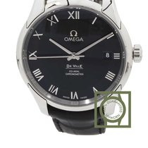 Omega De Ville Co-Axial 41mm Black Roman Dial NEW
