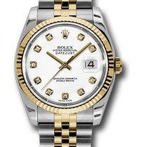 Rolex Unworn 116233 Datejust 36mm in 2-Tone with Fluted Bezel...