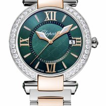Chopard Imperiale 18K Rose Gold, Stainless Steel, Green...