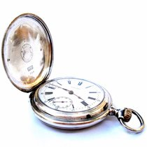 Longines Antique Pocket Watch Hunter Savonette 50mm Solid...