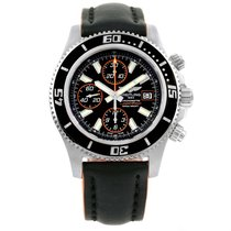 Breitling Aeromarine Superocean Black Orange Dial Mens Watch...