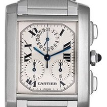 カルティエ (Cartier) Tank Francaise Chronograph Men's Steel...