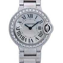 Cartier Ballon Bleu 18K Solid White Gold Diamonds