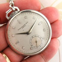 Patek Philippe Platinum Pocket watch diamond markers with...