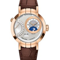 Harry Winston Premier Excenter Time Zone Automatic Rose Gold...