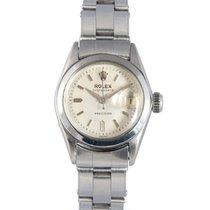 Rolex Ladies Vintage Steel Oysterdate with Silver Dial, Ref: 6406