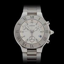 Cartier Must de 21 Chronoscaph Stainless Steel Unisex W10184U2...